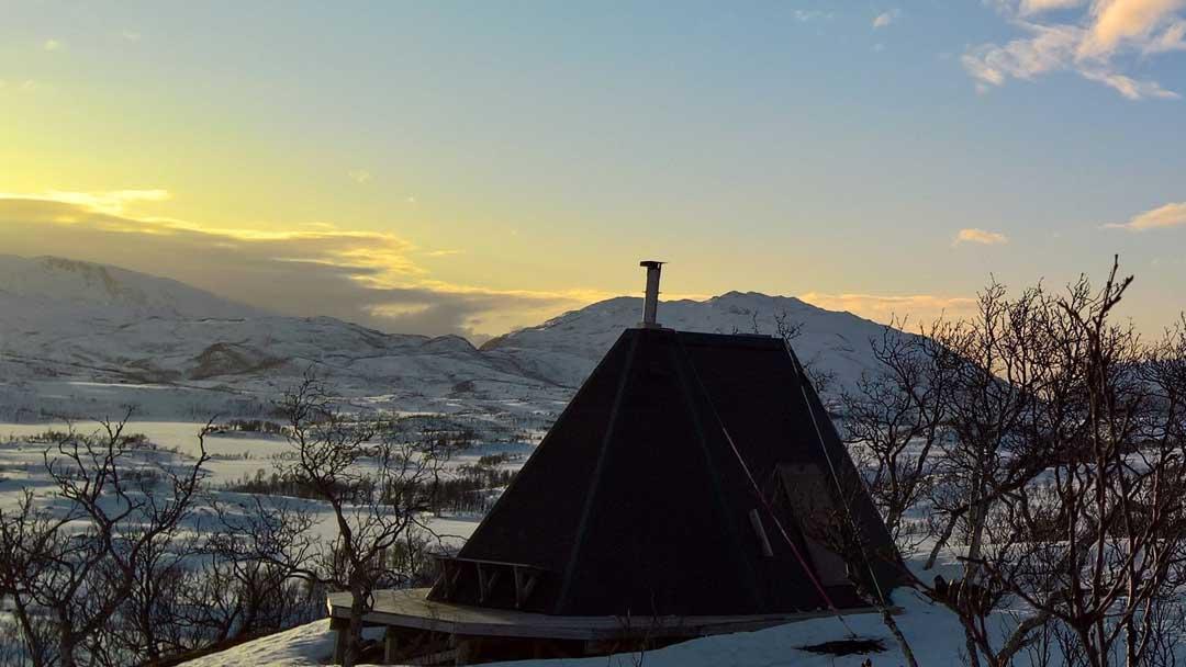 Utsikt fra lavvo Rakfjord